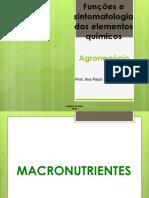 Funções e sintomatologia dos elementos químicos.pptx