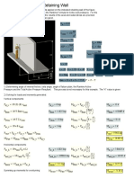 Analysis of Cantilever Retaining Wall Mathcad