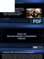 DELITOS CONTRA LA SEGURIDAD PUBLICA