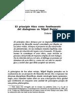 El principio ético como fundamento del dialogismo en Mijaíl Bajtín