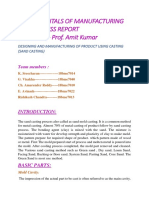 Fundamentals of Manufacturing and Process Report( Group--4)