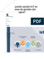 Cómo Puede Ayudar IoT en El Sistema de Gestión Del Agua