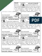 Pré-1 - 31 - Bilhete Homework