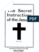 Secret Instructions of the Society of Jesus (Jesuits) (version 1)