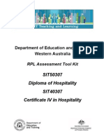 Hosp RPL Questions Cert IV