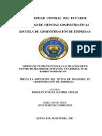 DISEÑO DE UN PROYECTO PARA LA CREACIÓN DE UN CENTRO DE DESARROLLO INFANTIL (GUARDERÍA) EN EL BARRIO MARIANITAS
