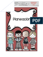 Planeador Preescolar Primer Periodo
