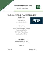(Administración de Las Pymes)Elaboración de Plan de Negocios 1a Paerte