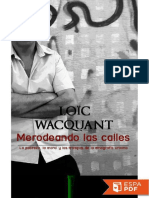 Merodeando Las Calles - Loic Wacquant