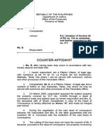 Dorig, Ray John a._counter Affidavit
