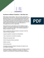 Excellence in Medical Translators