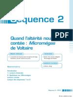 Séquence 2. Quand l altérité nous est contée _ Micromégas de Voltaire. Sommaire. Introduction 1. Lecture d extraits 2. Synthèses sur Micromégas