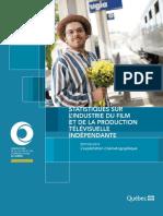 Statistiques sur l'industrie du film et de la production télévisuelle indépendante. Édition 2019