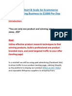 How to Make 1K Per Day With Shopify Dropshipping