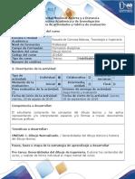Guia de actividades y rubrica de evaluacion - Pre-tarea - Generalidades del dibujo técnico