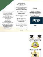 Invitación de Graduacion