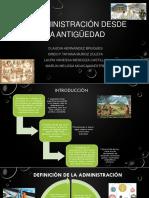 LA ADMINISTRACIÃ_N DESDE LA ANTIGÃ_EDAD