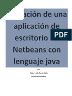 Creación de una aplicación de escritorio en Netbeans con lenguaje java.docx