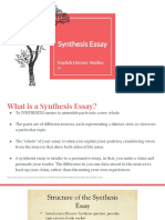synthesis essay ppt