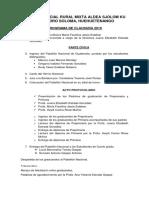 Programa de Clausura Sjolom Ku