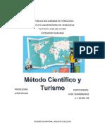 Metodo Científico y Turismo