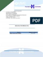 Analisis Ley de Servicio Civil