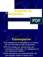 Catalogación de Materiales