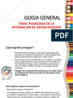 Tema. Pedagogia de La Integracion