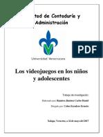 Los Videojuegos en Los Niños y Adolescentes