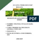 Biologia Alexander Oparin