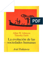 Johnson, Allen; Earle, Timothy - La Evolución de Las Sociedades Humanas