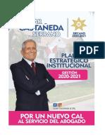 Plan Estratégico Institucional. 2020-2021. Cesar Castañeda Serrano al CAL