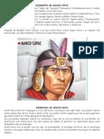 Biografía de Manco Cápac