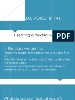 2019 FAs Gradys Gift and PBB - Creating a Textual Voice
