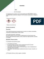 Hojas de seguridad Análisis de hipoclorito de sodio comercial