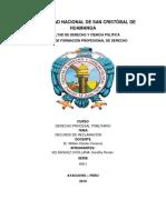 Recurso de Reclamación en el proceso administrativo