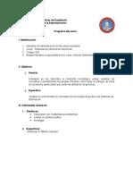 Programa Del Curso Sistemas de Información Gerencial 2019