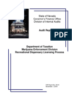 Dept of Taxation Marijuana Division Audit