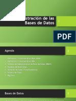 Administracion de Las Bases de Datos