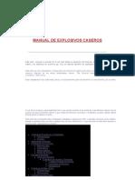 Manual de Explosivos Caseros