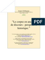 Corpus en Analyse de Discours