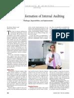 transformation of internal auditing