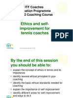 ITF Coaches_Level 2 Ehics