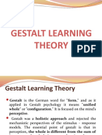 Gestalt Learning Theory