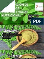 INVESTIGACIÓN DE LA MORINGA OLEIFERA Y VALOR NUTRICIONAL