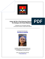 Avatar Adi Da's Final Summary Description of His Dialogue With Swami Muktananda