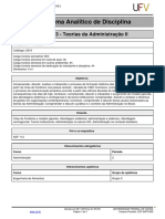 Programa Analitico-Teorias Da Administrao II
