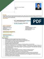 Zohaib Master CV