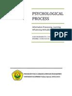 Psychological Process Consumer Behavior