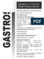 Bula - Gastrosil (Espinheira Santa)
